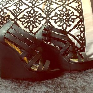Charlotte Russe strapping wedge sandals